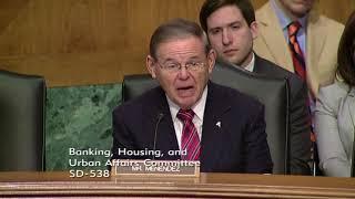 Menendez at Banking Hearing on CFIUS Reform