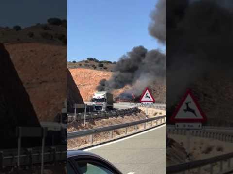Imágenes del incendio.