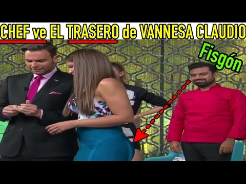 Chef Mariano Sandoval LE VE EL TRASERO a Vanessa Claudio en VENGA LA ALEGRÍA