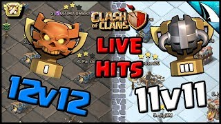 *LIVE CWL ATTACKS* TH 12 & TH 11 | DragBat & Electrone | Clash of Clans