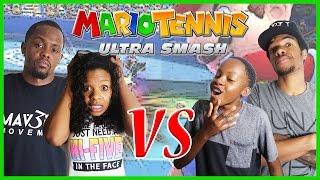 INTENSE FAMILY TENNIS BATTLE!! - Family Beatdown 12 Pt.5 I Mario Tennis Ultra Smash Gameplay