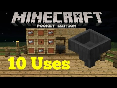 Download 10 Uses For Hoppers in Minecraft Pocket Edition Mp4 HD Video and MP3