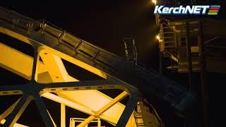 Керчь:  Ночные кадры подъема арки на расчетную высоту