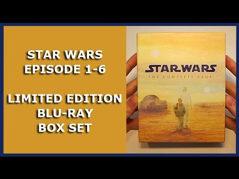 STAR WARS EPISODE 1-6 - LIMITED 9-DISC BLU-RAY BOX SET UNBOXING - THE COMPLETE SAGA