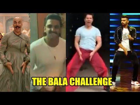 Ranveer Singh,Varun Dhawan & Arjun Kapoor Takes up Akshay Kumar's BALA Challenge