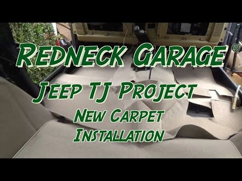 Jeep Wrangler-  Seatz Carpet Kit –  Installation of Carpeting