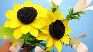 Descargar mp3 de how to make a paper flower tutorial sunflower paper how to make sunflower paper flower craft tutorial 7 mightylinksfo