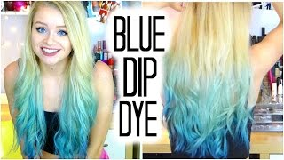 Turquoise/Blue Dip Dye! | Sophdoesnails