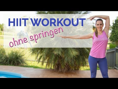 HIIT Workout für Zuhause - ohne Springen - Fatburner ohne Geräte