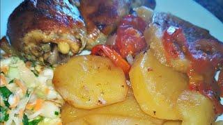 Картошка в духовке     Курица с картошкой в духовке