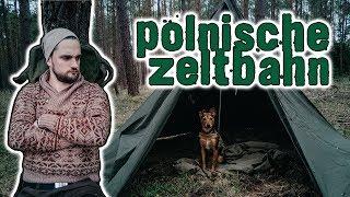 Polnische Zeltbahn im Test - Lavvu / Tipi / Canvas Zelt / Army Tent