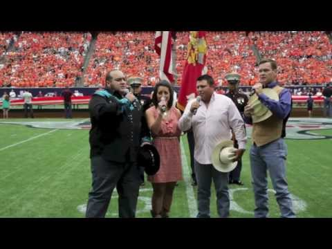Lone Star Drifters perform The National Anthem at Reliant Stadium