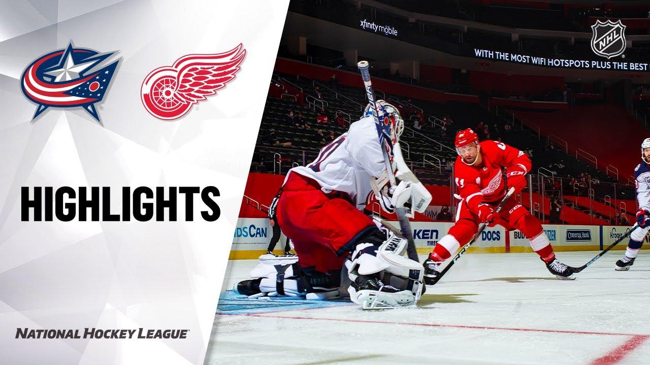 Blue Jackets vs Red Wings | Tuesday, January 19, 2021