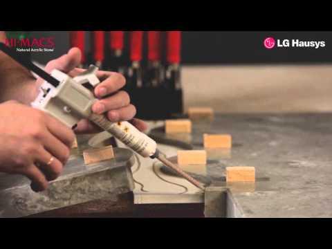 Особенности обработки и стыковки искусственного камня HI-MACS серия MARMO