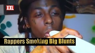 Rappers Smoking Big Blunts