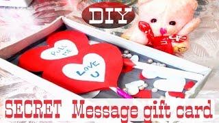 DIY Secret massage Gift card for Valentine day