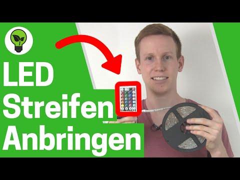 LED Streifen anbringen ✅ TOP ANLEITUNG: Licht Band, Lichterkette, RGB Strips & Leiste verbinden!!!