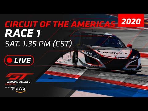 2020年 ブランパンGTワールドチャレンジ・アメリカ(サーキット・オブ・ジ・アメリカズ)Race1フル動画