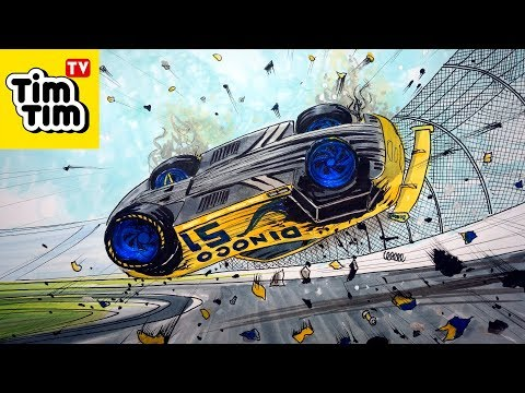 How to draw CARS 3 CARS 4 Cruz Ramirez's Crash | Art for Kids
