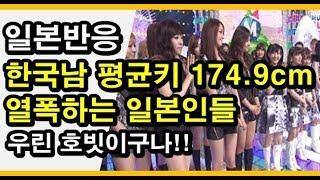 (일본반응) 한국인 남자 평균키는 174.9센티!! 발광 열폭하는 2ch일본인들