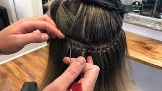 Detailed LA WEAVE Human Hair Extension Application Video And Tutorial.
