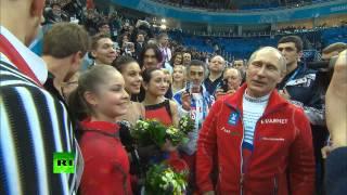 Владимир Путин поздравил российских фигуристов с золотой медалью