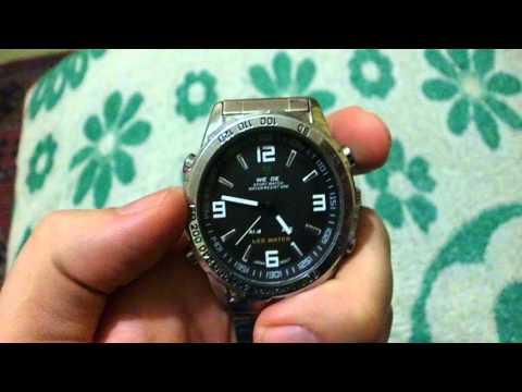 Инструкция на русском к наручным LED часам Weide WH1009-1