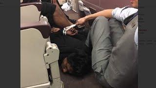 Disruptive passenger on MH128 apprehended