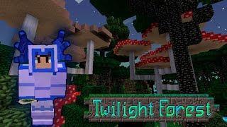 Грибные деревья в Сумеречном лесу. Вася ищет неприятностей. The Twilight Forest для Minecraft.
