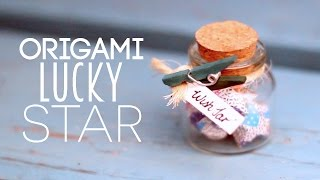 DIY ♥ Paper Lucky Star Wish Jar Tutorial