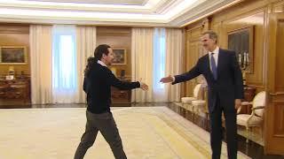 Su Majestad el Rey recibe a Don Pablo Iglesias Turrión, de Podemos (Unidas Podemos)