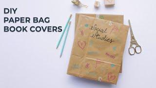 DIY Paper Bag Book Covers