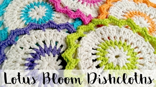 How To Crochet The Lotus Bloom Dishcloths, Episode 161