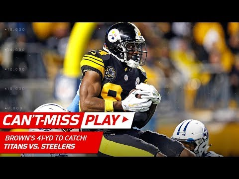 Antonio Brown's Amazing 41-Yd TD Grab in SkyCam View! | Can't-Miss Play | NFL Wk 11 Highlights