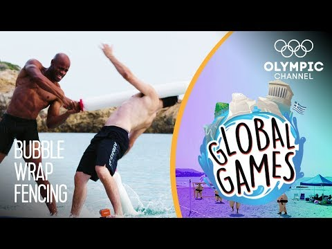 Bubble Wrap Fencing - Olympians vs Influencers   The Global Games