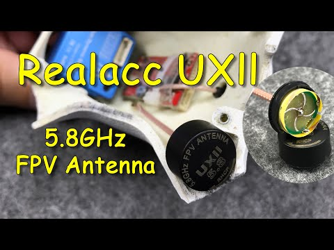 Realacc UXII Stubby RHCP U.FL 5.8GHz 1.6dBi | Мини антенна для квадрокоптера