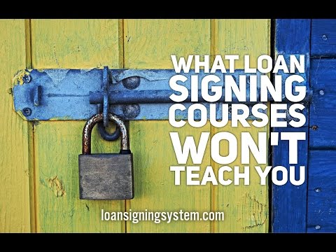 What Notary Loan Signing Courses & Certifications WON'T Teach ...