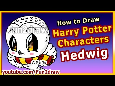 Harry Potter Owls Fun2draw Stars By The Funny Drawers