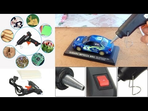 Shun Xin 20W Hot Melt Glue Gun with 50 Sticks - Πιστόλι θερμοκόλλησης δοκιμή σε διάφορα υλικά