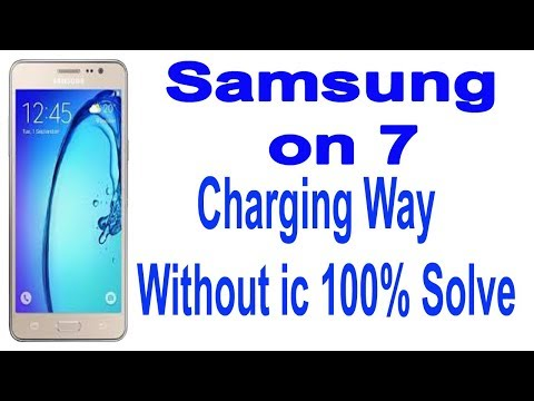 How To Samsung Galaxy on 7 charging Way without ic 100