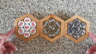 Coasters ..made From Bottle Caps Set In Resin.