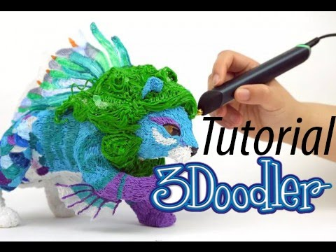 3doodler 2.0 3D Printing Pen review and demonstration