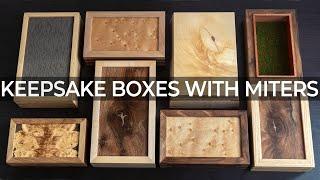 Keepsake Boxes With Miters And Corner Keys