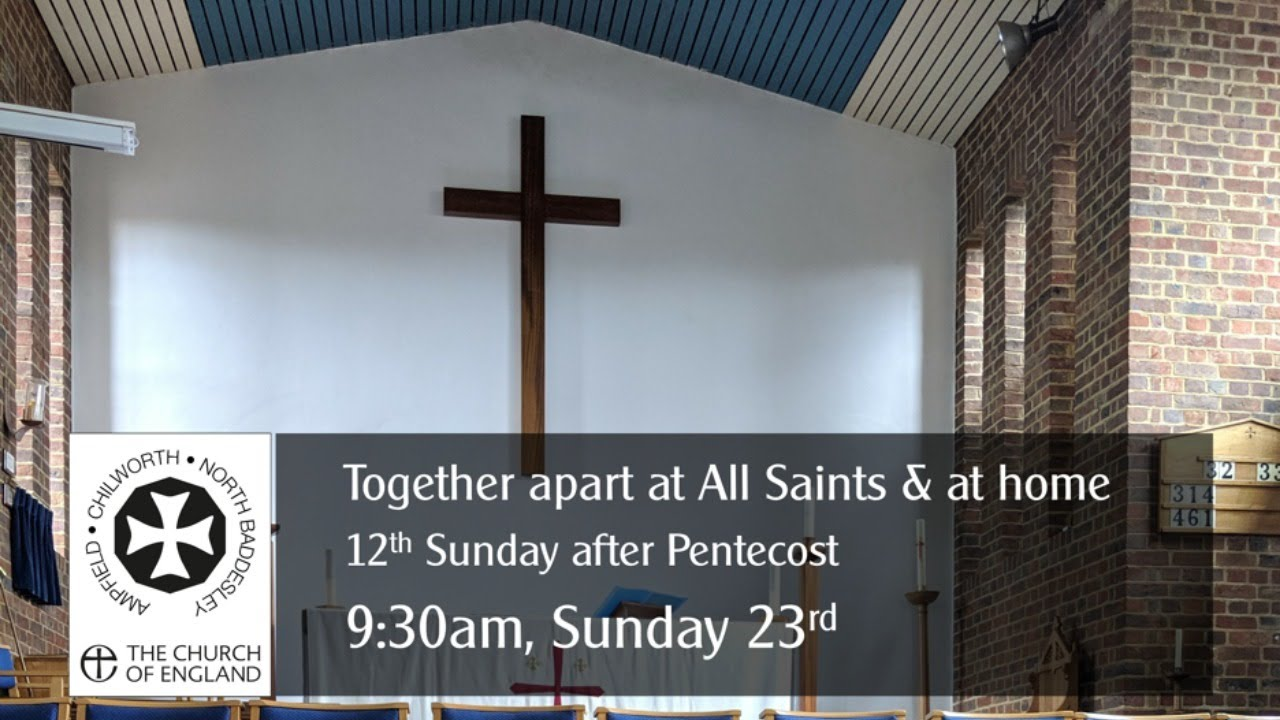 Thumbnail for the in person and online service on Sunday