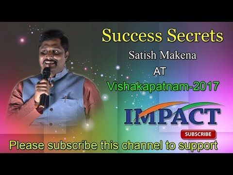 Goal Setting | Satish Makena| TELUGU IMPACT Vizag 2017