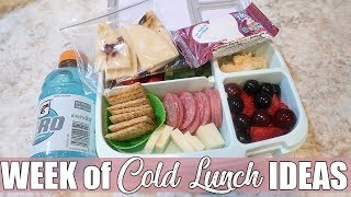 Easy Cold Lunch Ideas for Work or Back to School | August 2019
