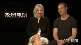 Jennifer Lawrence and James McAvoy on 'X-Men: Apocalypse', NSFW Improv, and 'New Mutants' by Collider
