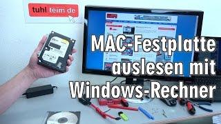 MAC Festplatte auslesen mit Windows-Rechner mit kostenloser UBCD - [4K Video]