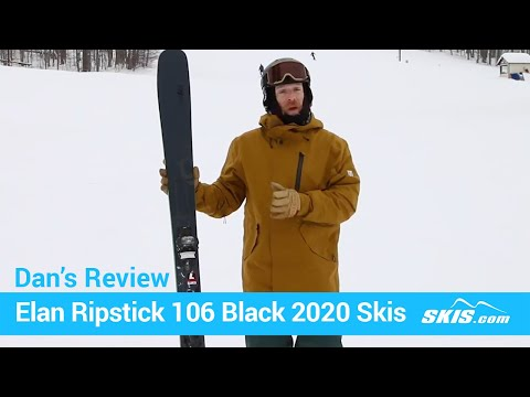 2020 Elan Ripstick 106 Black Edition Skis w// Tyrolia Attack2 13 GW Bindings