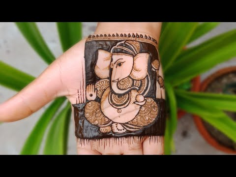 how to draw ganesha in bridal mehndi designs by mehndi creations